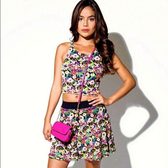 "Spotted while shopping on Poshmark: ""⭐️New Listing⭐️crop top & skater skirt 2fer set""! #poshmark #fashion #shopping #style #Dresses & Skirts"