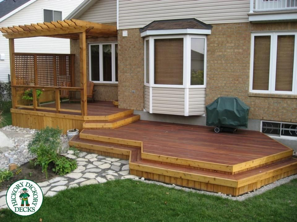 Image result for 2 level deck | Patio stairs, Patio, Backyard on 2 Level Backyard Ideas id=39557