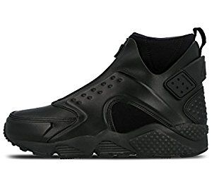 Nike Women's Air Huarache Run Mid Black Reflect Silver 807313 001