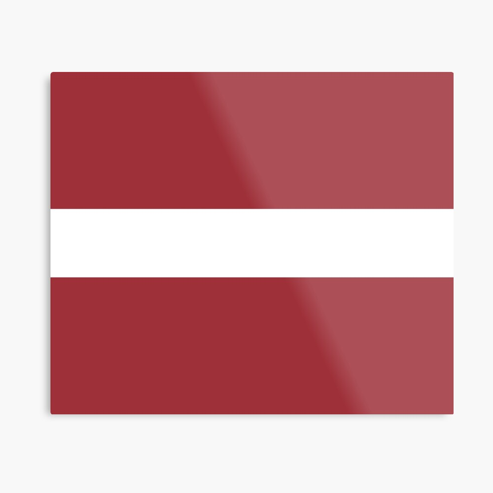 Flag Of Latvia Pattern Horizontal Stripes Red White Red Metal Print By Disordershop Redbubble Horizontal Stripes Red And White Stripes