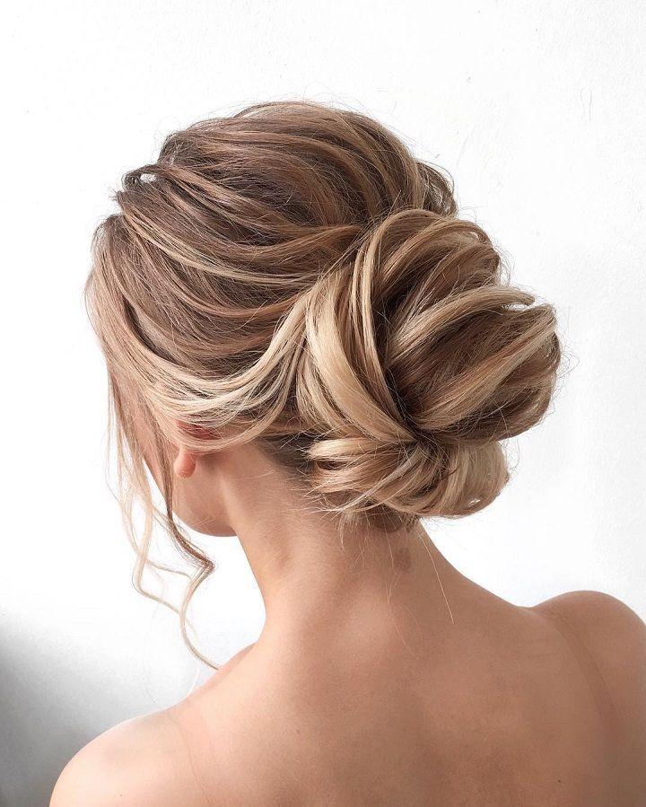 Gorgeous updo wedding hairstyle with gorgeous deta