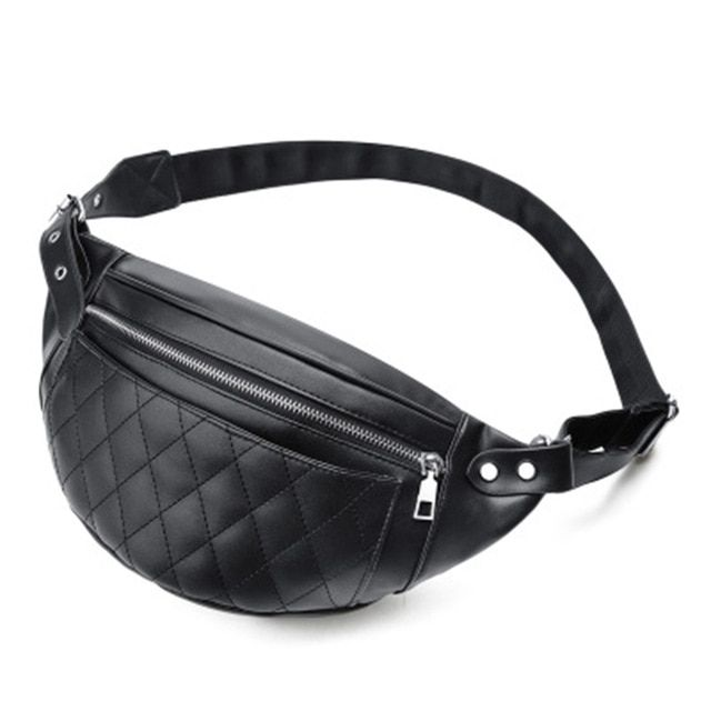 f7c530a11a35 Trendy Pu Leather Waist Packs Women Bags Casual Belt fanny bum pochete mini  belly purse pochetes chest cintura 2018 for mujer Review