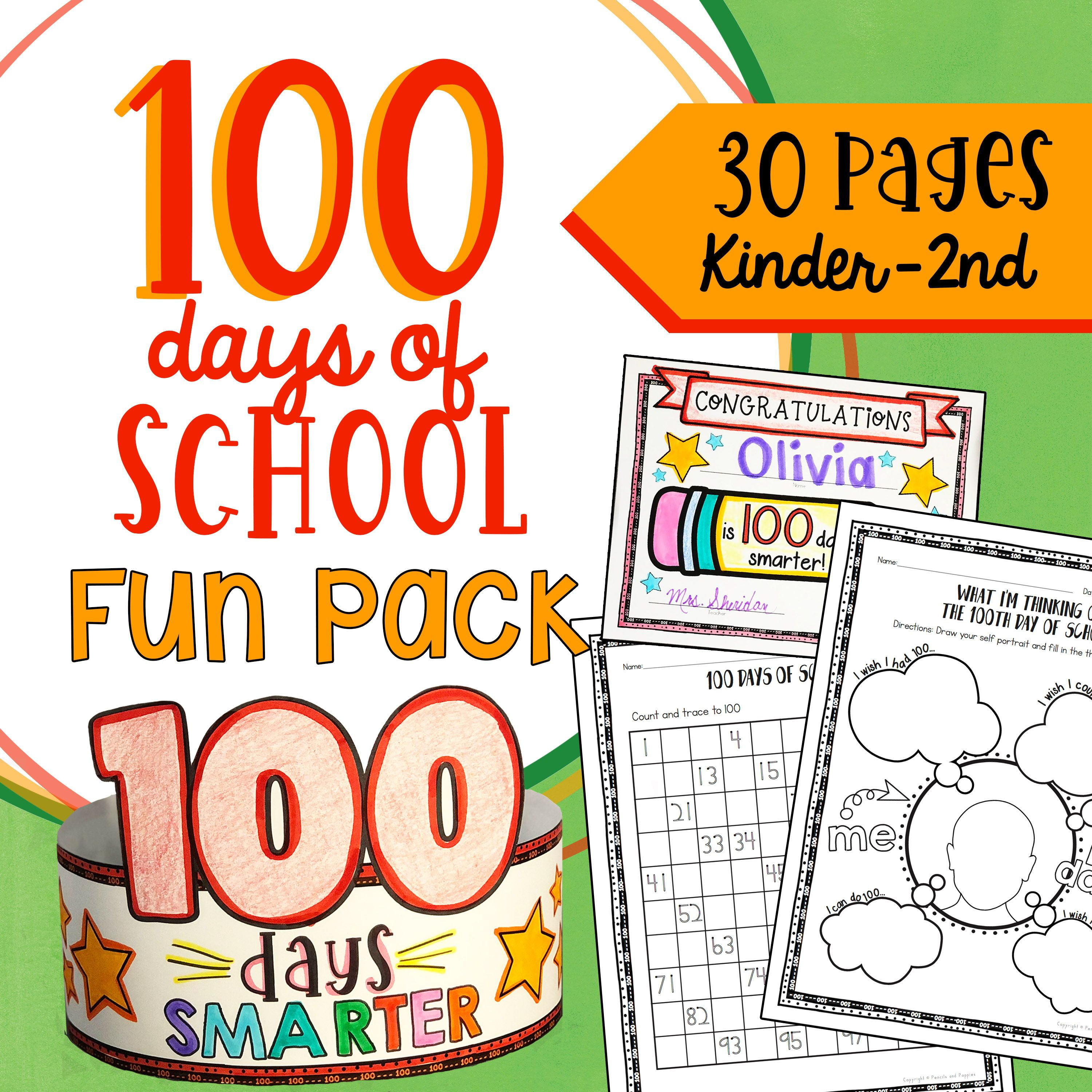 100 Days Of School Activities Bundle