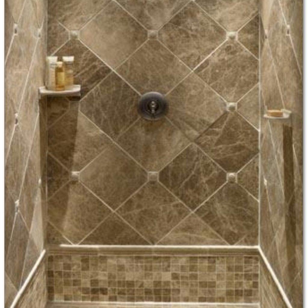 Tiled Shower Stalls Create Distinctive And Stylish Shower Zone - Diamond shaped tile flooring