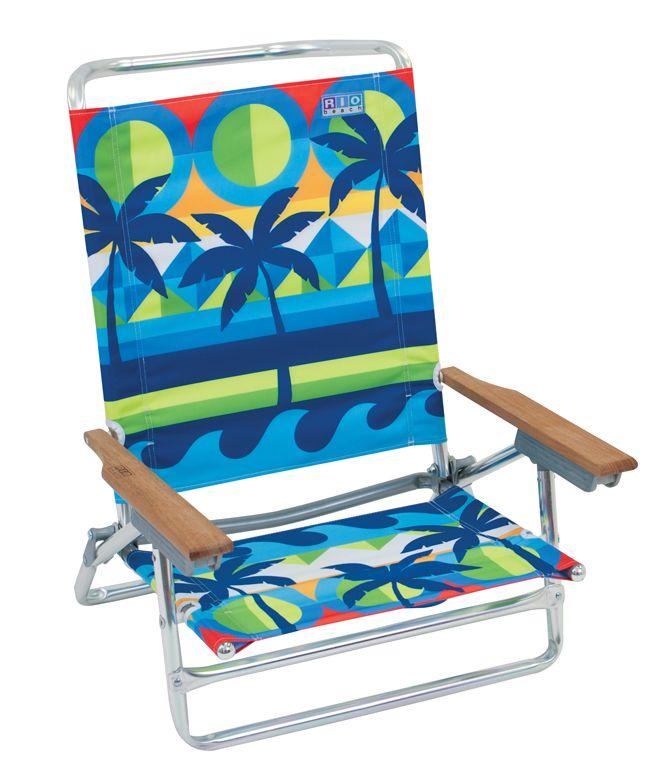 Classic 5 Position Aluminum Beach Chair Graphic Arts Print Palms Cheap Beach Chairs Cheap Folding Chairs Beach Chairs