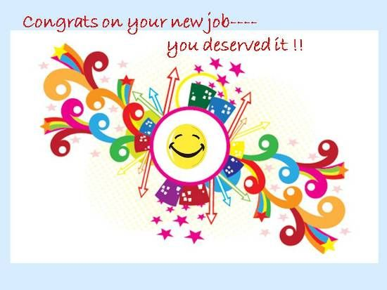 congratulations on new position