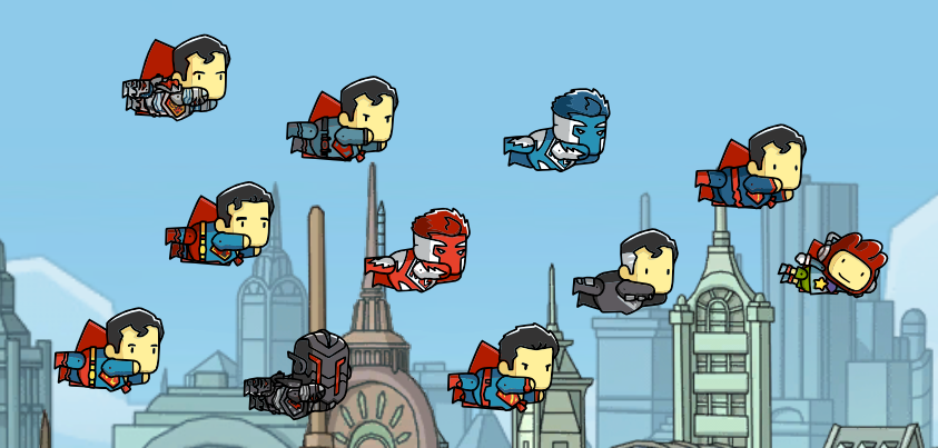Scribblenauts Unmasked features all the different versions