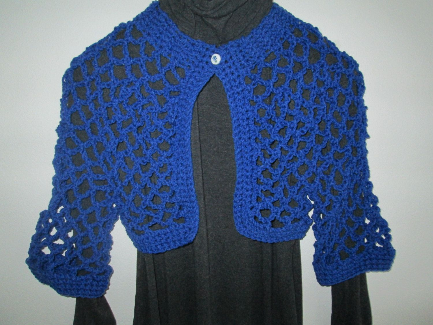 f147620d102a Royal Blue Bolero Jacket by SuzannesStitches