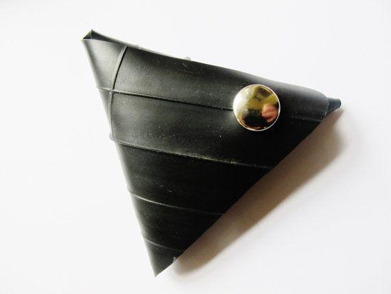 Triangle Coin Purse, Black Coin purse, Change Purse, Coin