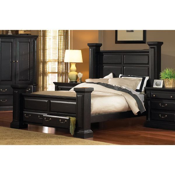 Rustic Black King Storage Bed Torreon Progressive Furniture King Storage Bed Furniture
