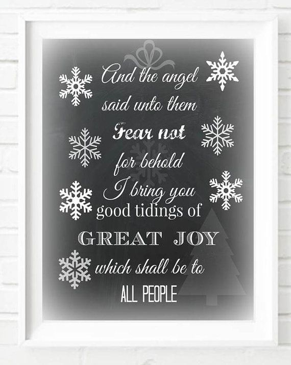 Chalkboard Christmas Decoration Art Typography Poster Chalkboard Christmas  Print Bible Quote Instant Download Digital Download Merry