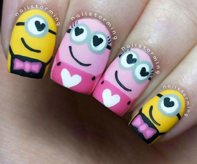 Mañana men   Nails: Minions   Pinterest   Diseños de uñas, Manicuras ...