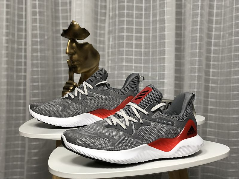huge selection of 5e22e d6c6a 2018 New Arrival Adidas Alphabounce Ac8625 Cool Wolf Grey Red Shoe