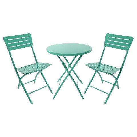 Metal Folding Patio Table Turquoise Room Essentials