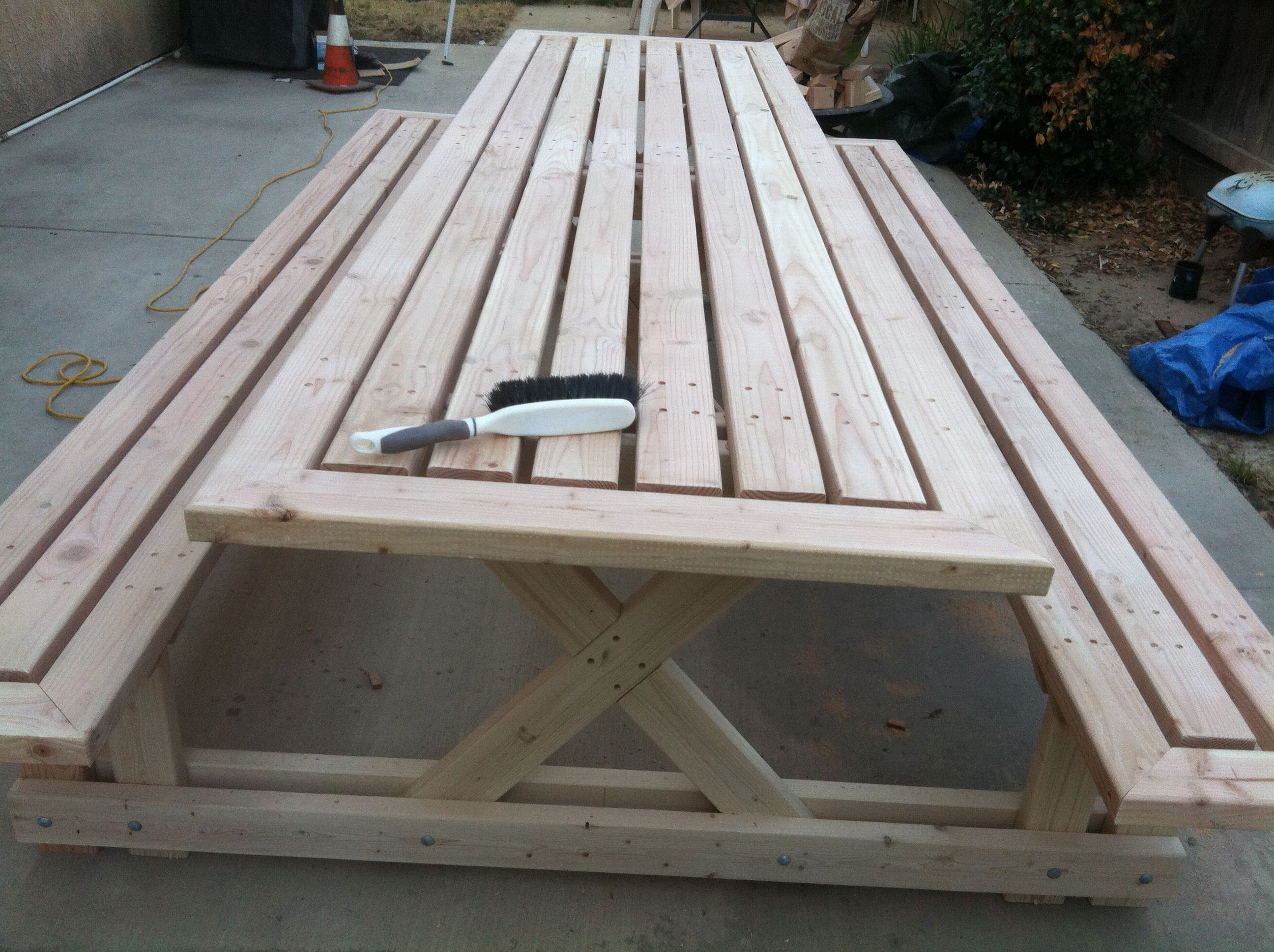 10 Ft Picnic Table Using 2x4 Doug Fir Picnic Table Woodworking Plans Picnic Table Plans Diy Picnic Table