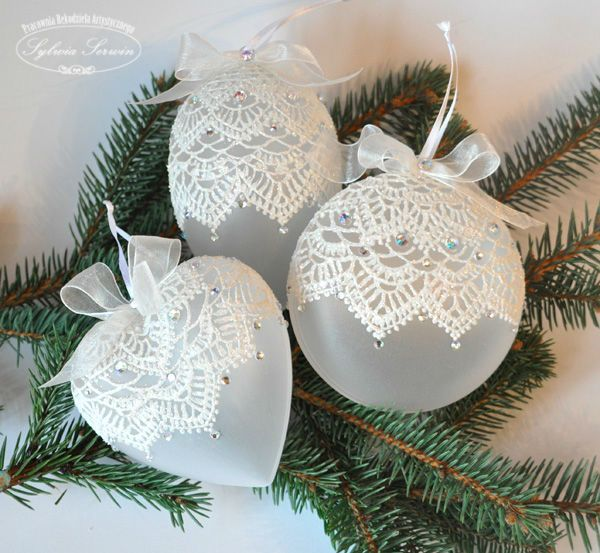 Decorative Christmas Ball Ornaments Lace Christmas Balls  Ornaments  Pinterest  Ornament Christmas