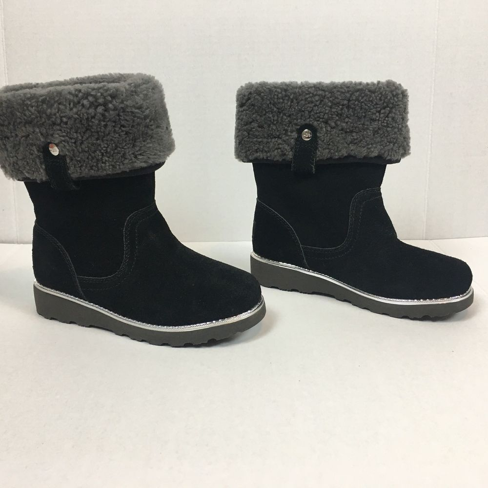 081ade27f5a Ugg Kids Boots Girls 13 Youth Australia Callie Black New Wool Shoes ...
