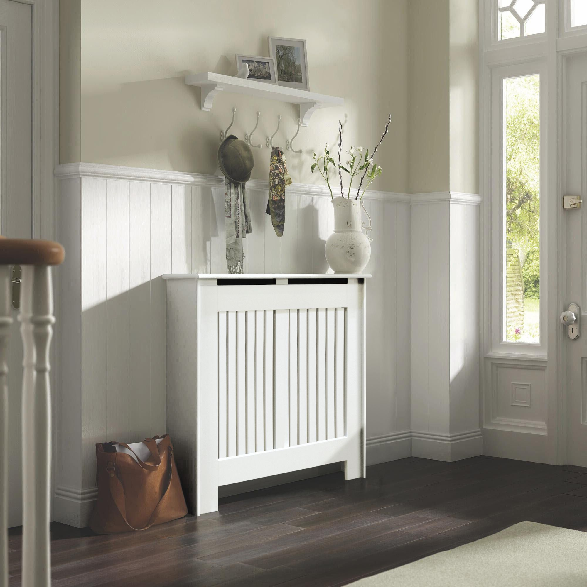 Small White Painted Kensington Radiator Cover Departments Diy