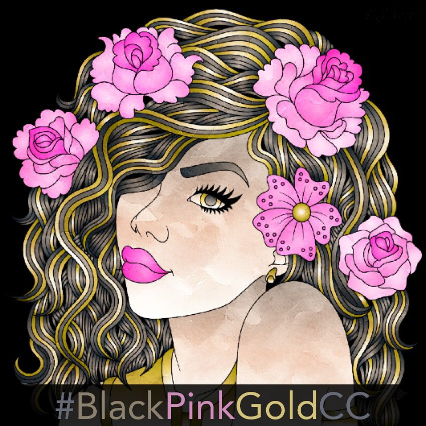 Color Therapy Wednesday Challenge BlackPinkGoldCC Started In