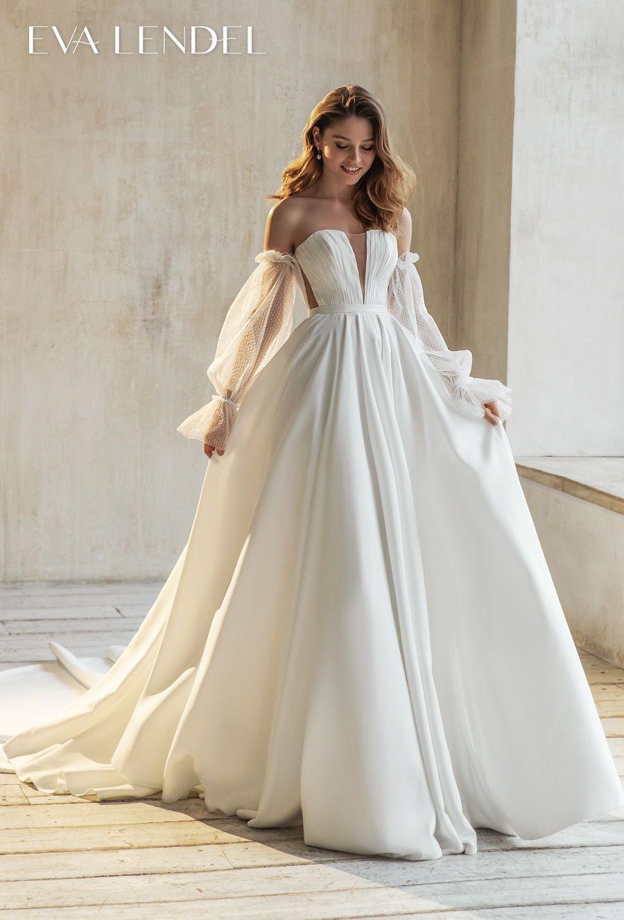 Eva Lendel 2021 Wedding Dresses Less Is More Bridal Collection Wedding Inspirasi Ball Gowns Wedding Wedding Dresses Fitted Wedding Dress [ 1326 x 900 Pixel ]