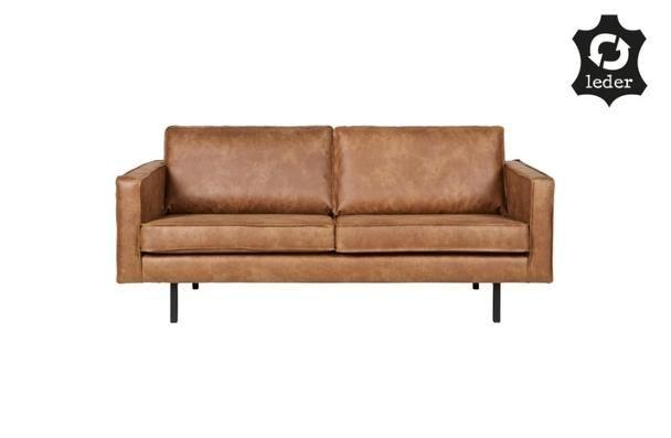 Sofa 2,5 Sitzer Leder Be pure Home Braun - Sofas - Sofas, Sessel - wohnzimmer sofa braun