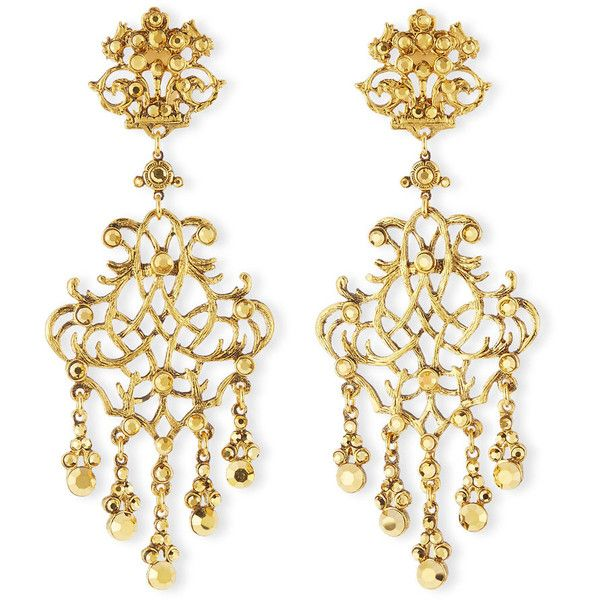 Jose maria barrera 24k plated scroll chandelier clip earrings jose maria barrera 24k plated scroll chandelier clip earrings 405 liked aloadofball Images