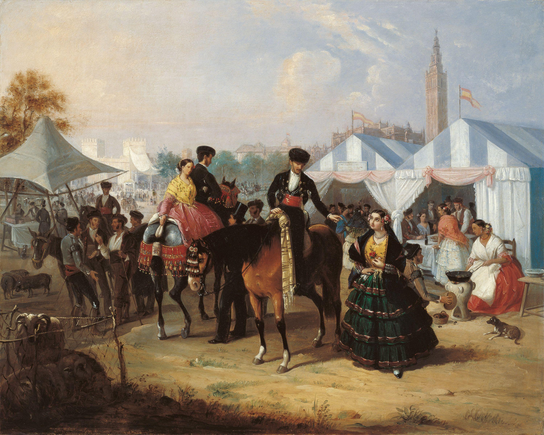 Manuel Cabral Aguado Bejarano. En la Feria de Sevilla, c