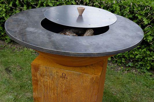 barbecue brasero en acier corten jardin pinterest. Black Bedroom Furniture Sets. Home Design Ideas