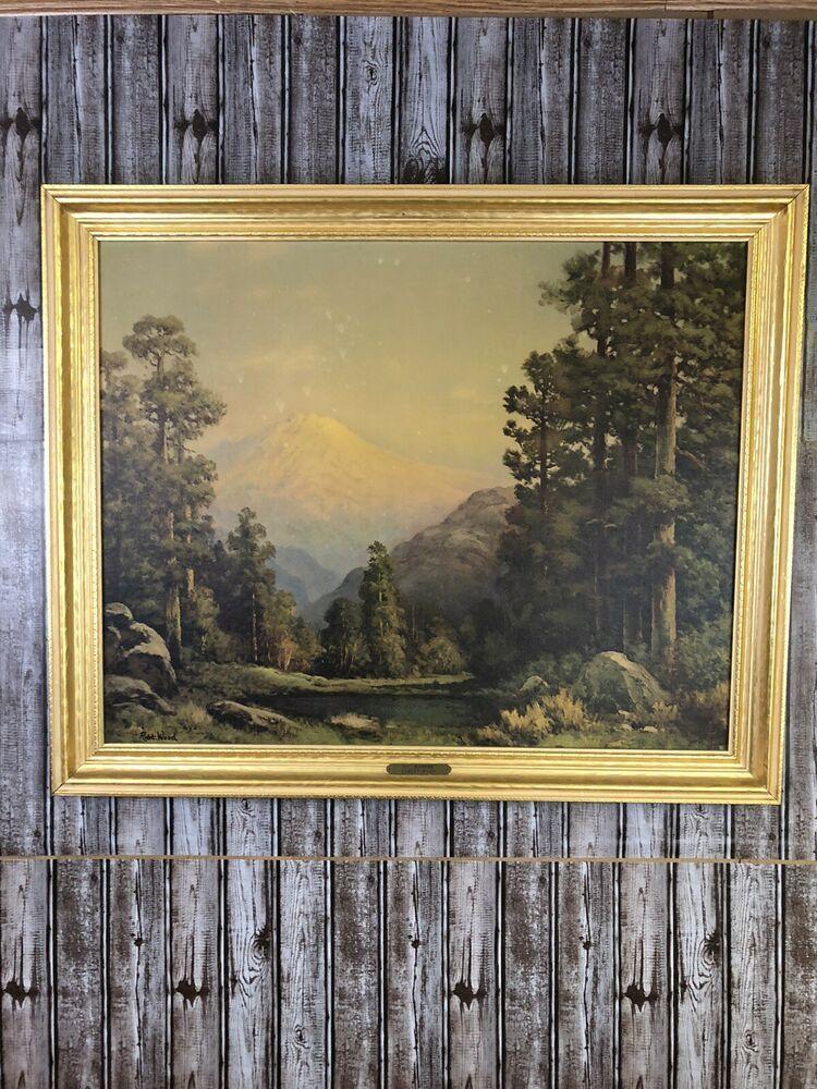 Robert Wood Prints : robert, prints, Vintage, Robert, Century, Mt.Rainier, Lithograph, Print, Signed, Frame, #Vintage, Prints,, Landscape,, Landscape, Paintings