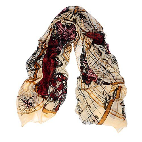 Encounter womens world map pattern lightweight sheer gradient color encounter womens world map pattern lightweight sheer gradient color scarf shawl for ladies amazon gumiabroncs Images