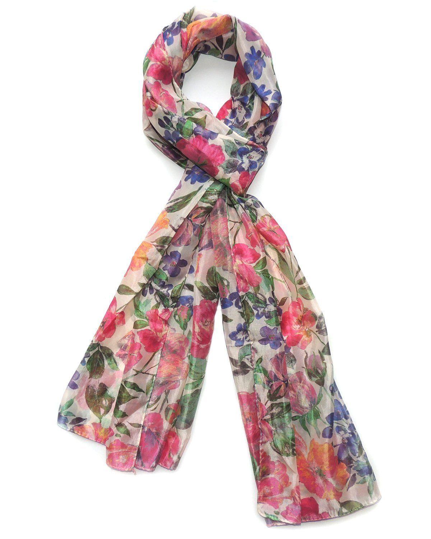 0b6324e6647231 Indian Fashion Guru, Multicolor, Flower design, Stole: Amazon.in: Clothing  & Accessories