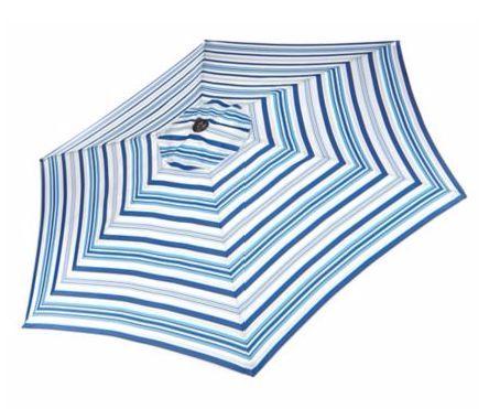 Canvas Blue Stripe Patio Umbrella Canadian Tire