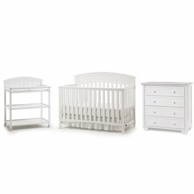 Graco Cribs 3 Piece Nursery Set Charleston Convertible Crib Changing Table And Portland 4 Drawer Dresser In White Click To Enlarge