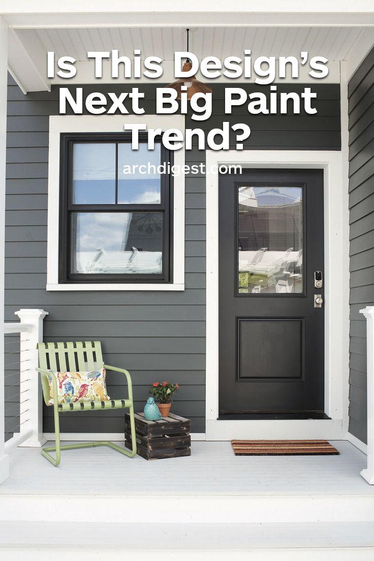 Is Black Paint The Next Big Paint Trend Gray House Exterior Cottage Exterior Colors House Paint Exterior