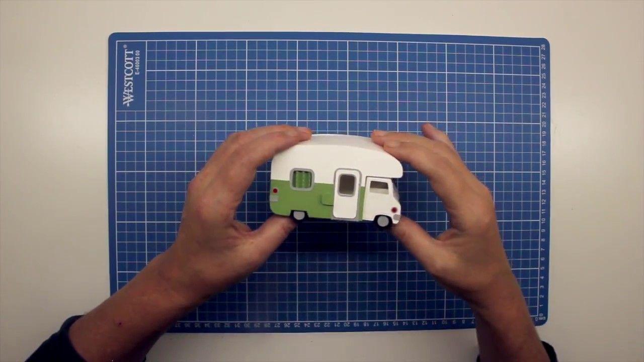 Wohnmobil Aus Papier Basteln Bastelvideo Zuschnitt Mit Silhouette