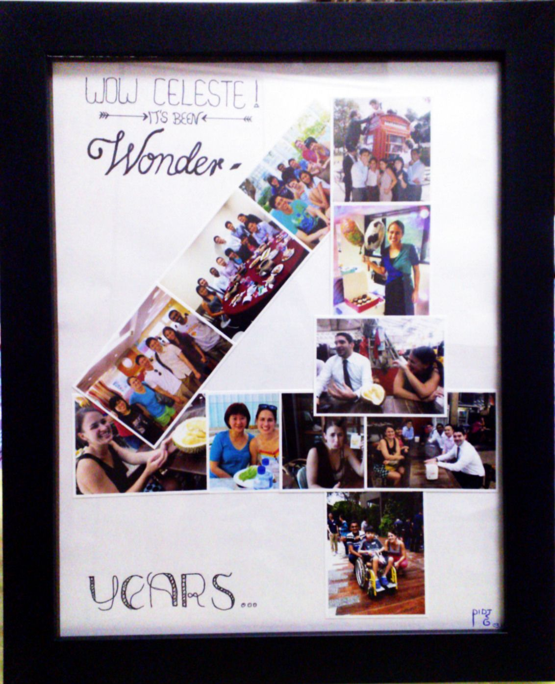 Diy 4 years anniversary photo collage my diy handcrafts What is the 4 year wedding anniversary gift