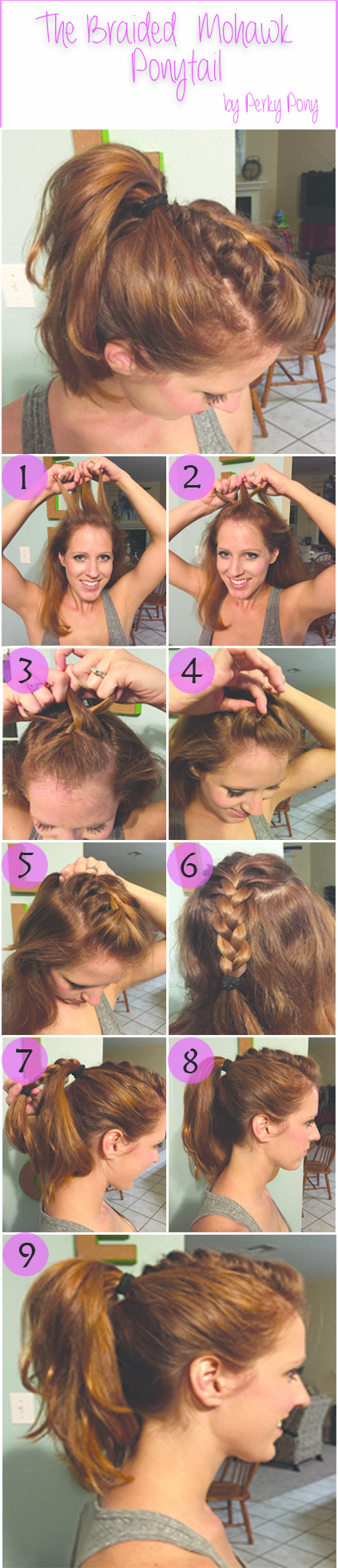 Give yourself a punky pony with this fun mohawk look check out how