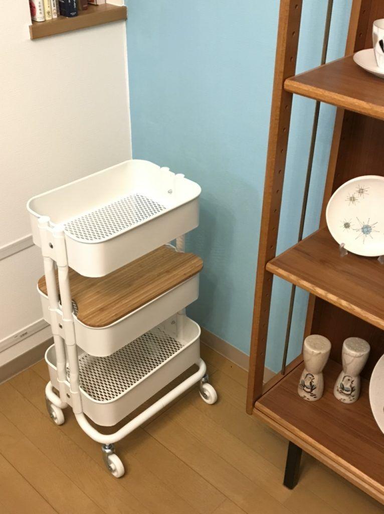 Ikeaのhornavan ホールナヴァンワゴン 収納アイデアや使い方をブログレポート 収納 アイデア 収納 リビング キッチン