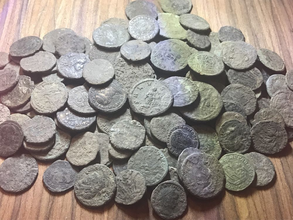 Lot Of 20 X Uncleaned Ancient Roman Imperial Coins  Mixed