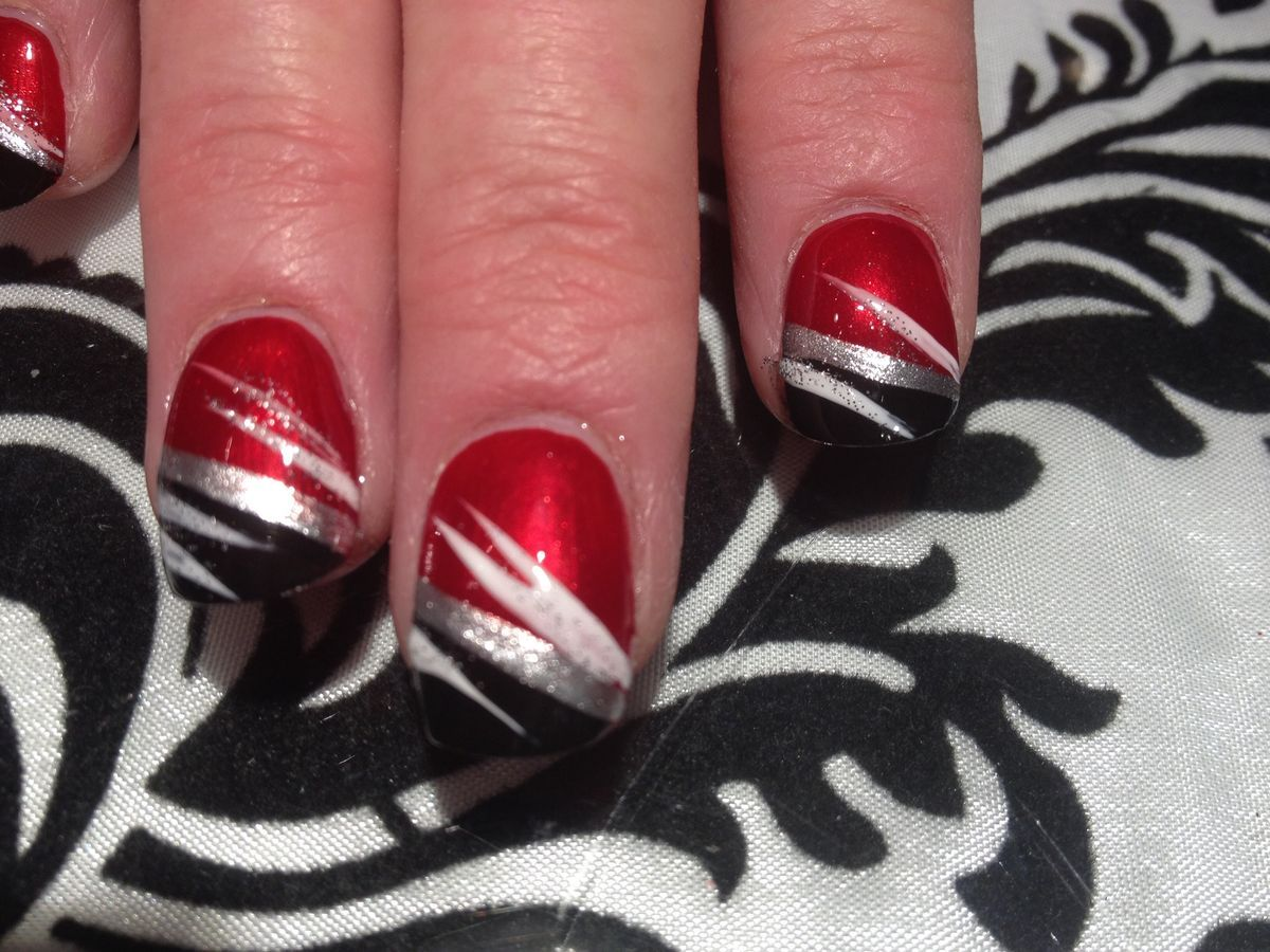 Red, black, and white nail design - Red, Black, And White Nail Design Fabulous Nails Pinterest