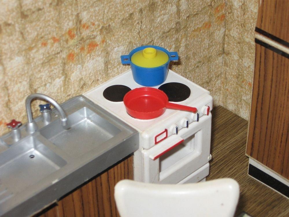 Küchenmöbel Modella O-Karton Puppenmöbel  Puppenhaus-Puppenstube-Puppenküche