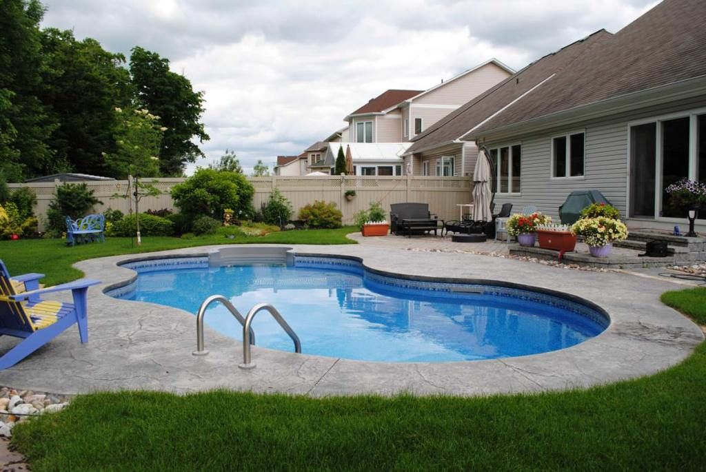 Exterior traditional fiberglass pool kits fiberglass pool