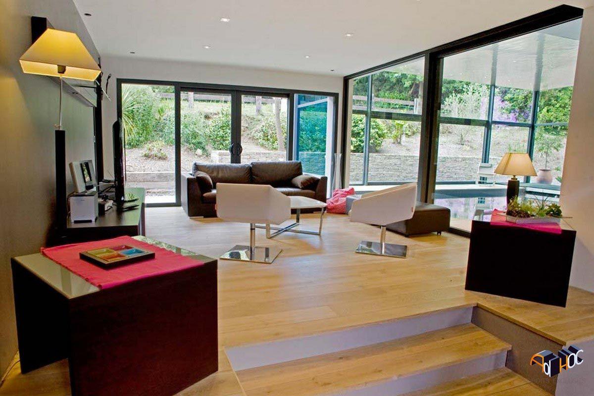 architecte d 39 int rieur pour la construction d 39 une extension pour une maison individuelle au tour. Black Bedroom Furniture Sets. Home Design Ideas