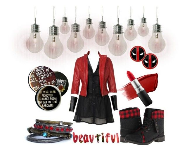 """""""Red"""" by myfics222 ❤ liked on Polyvore featuring BULB, Hourglass Cosmetics, Skechers and MAC Cosmetics"""