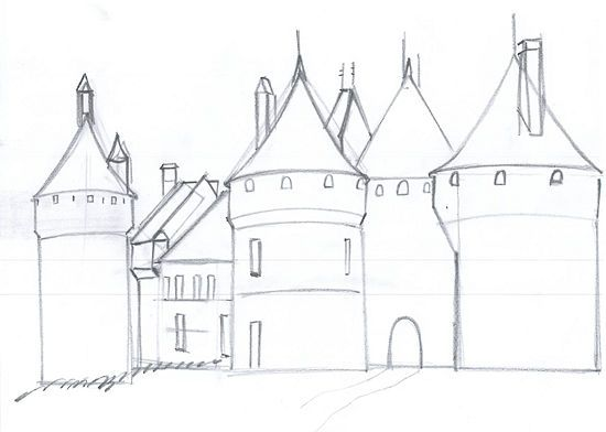 Draw A Medieval Castle