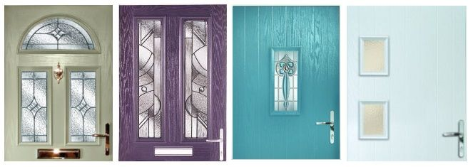 Front door ideas coloured comoposite doors by Hurst (moss green heather turquoise ice blue). & Front door ideas: coloured comoposite doors by Hurst (moss green ...