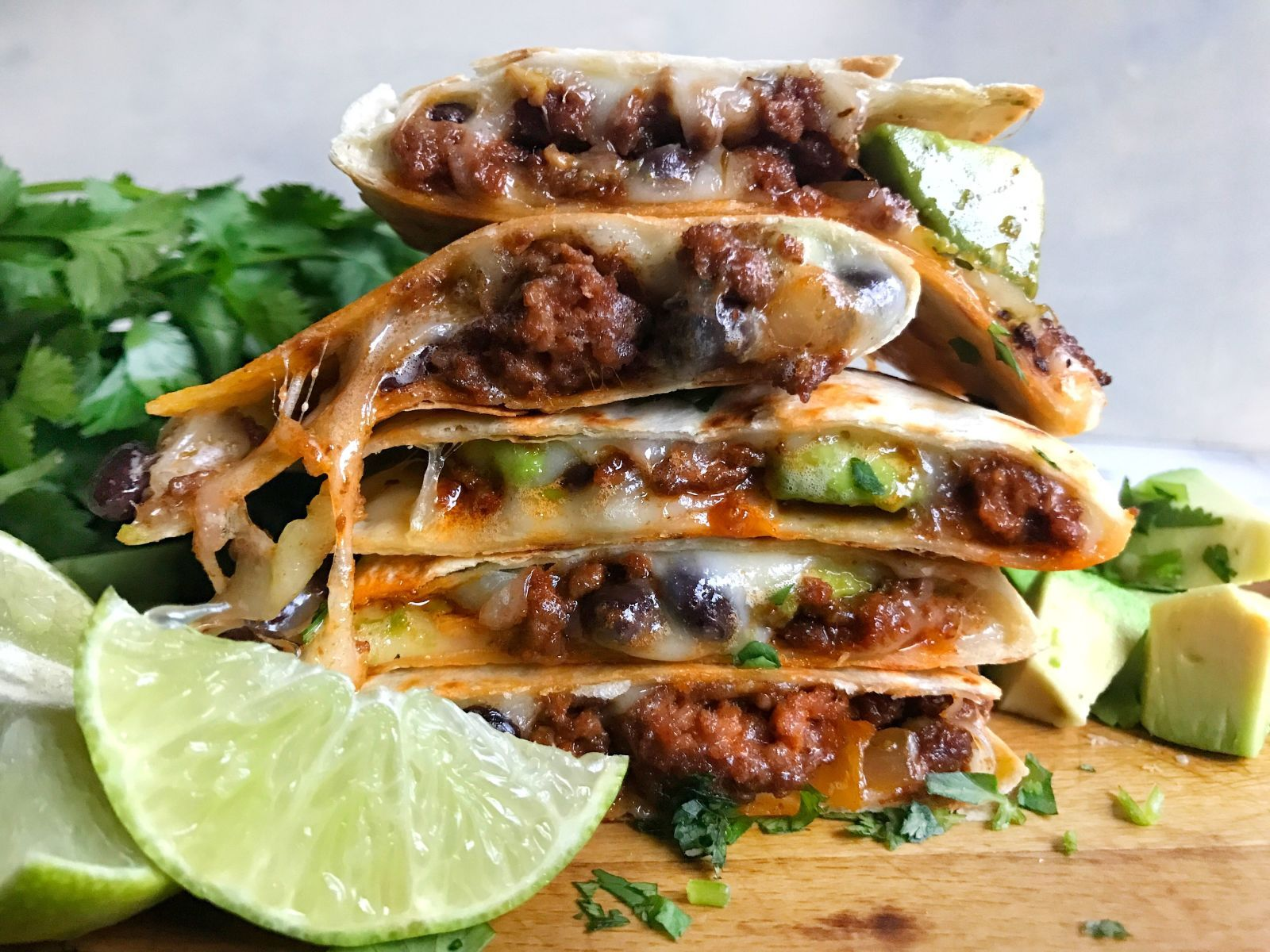 Cheesy Beef Quesadillas Prove The Only Thing A Quesadilla Is Missing Is More Cheese Recipe Beef Quesadillas Mexican Food Recipes Traditional Mexican Food