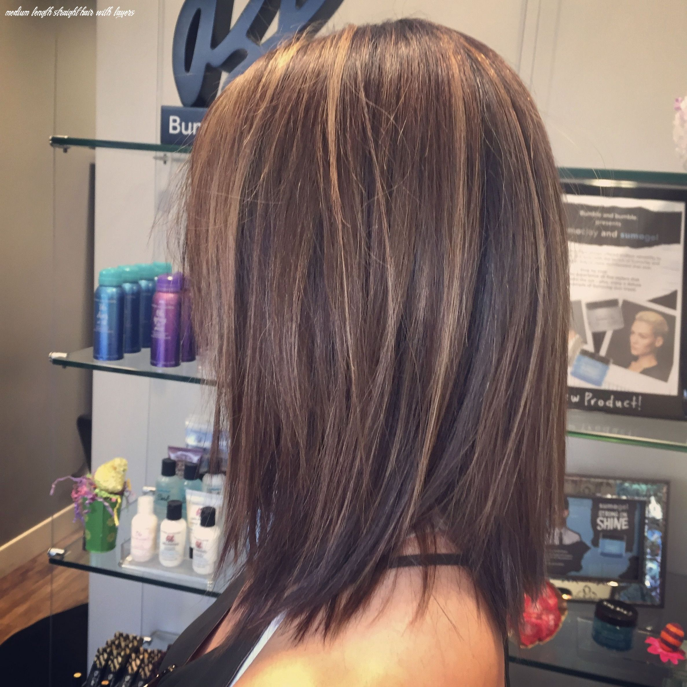 11 Medium Length Straight Hair With Layers - Undercut Hairstyle