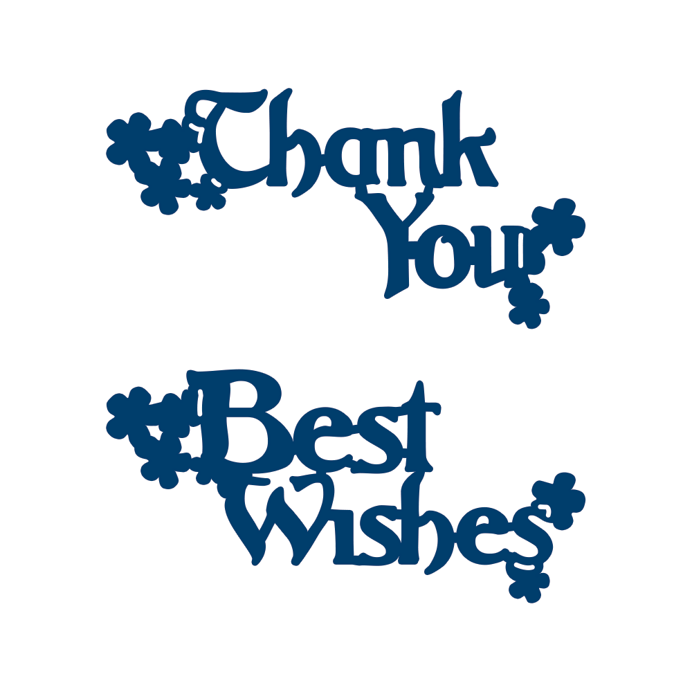 Tattered Lace Dies - Best Wishes & Thank You Interlocking | PDA Card & Craft