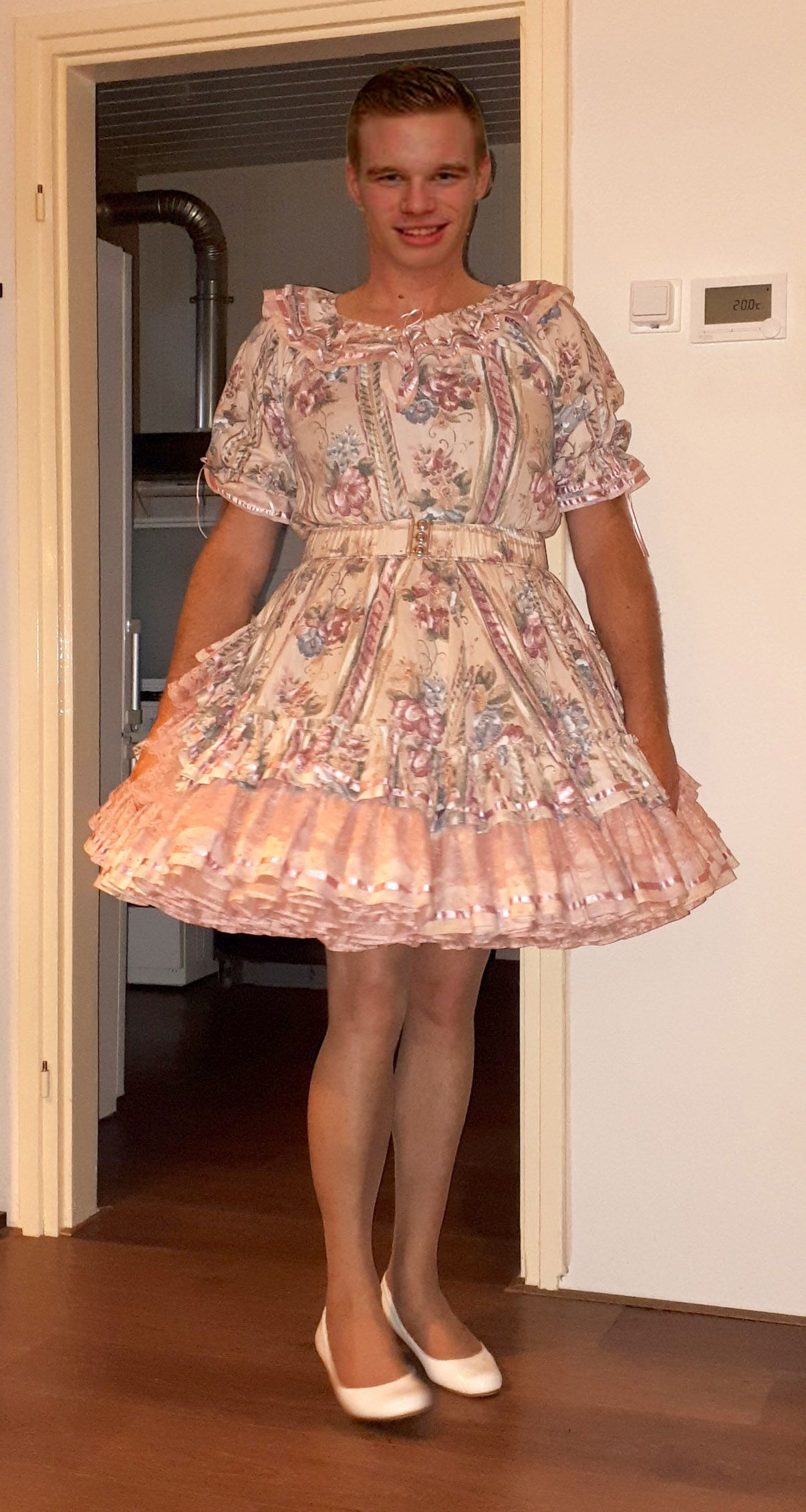 dfb9b2883fe99c my new dress with pink petticoat. love to wear it all day long Prissy Sissy